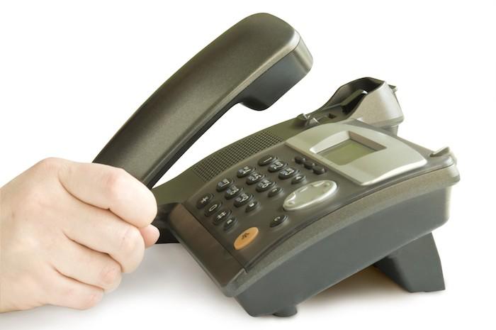 рычаг офисного телефона