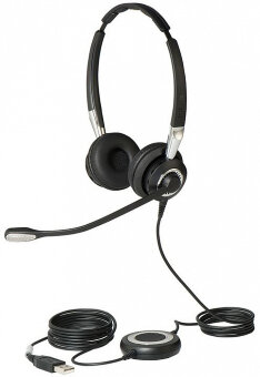 Jabra BIZ 2400 II Duo USB Lync with Bluetooth (2499-823-209) гарнитура